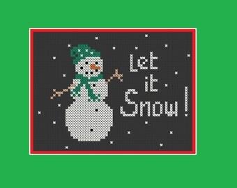 Christmas cross stitch pattern: let it snow