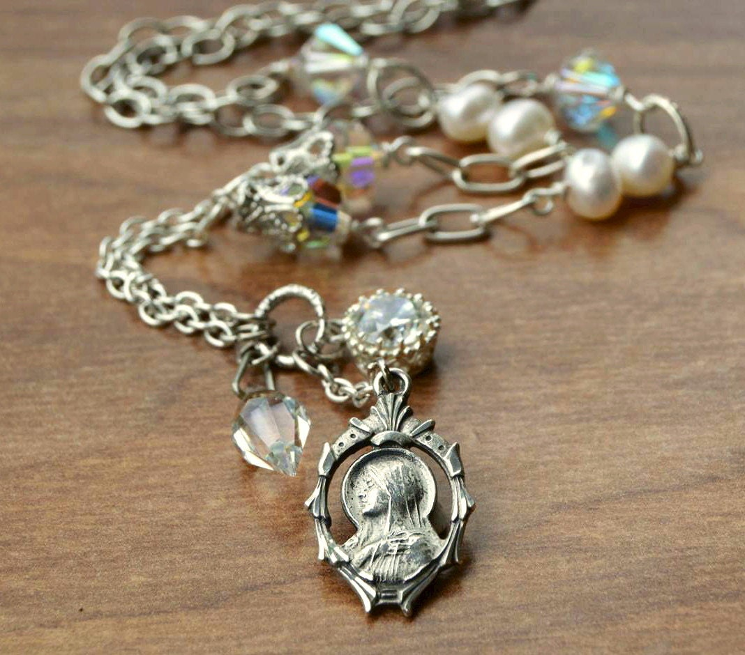 religious catholic jewelry catholic religious necklace