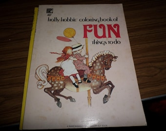 Holly Hobbie Coloring Book of Fun Things to Do VINTAGE