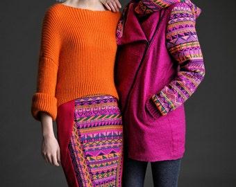 Fairisle Cowl Hood Coat by Megan Crook