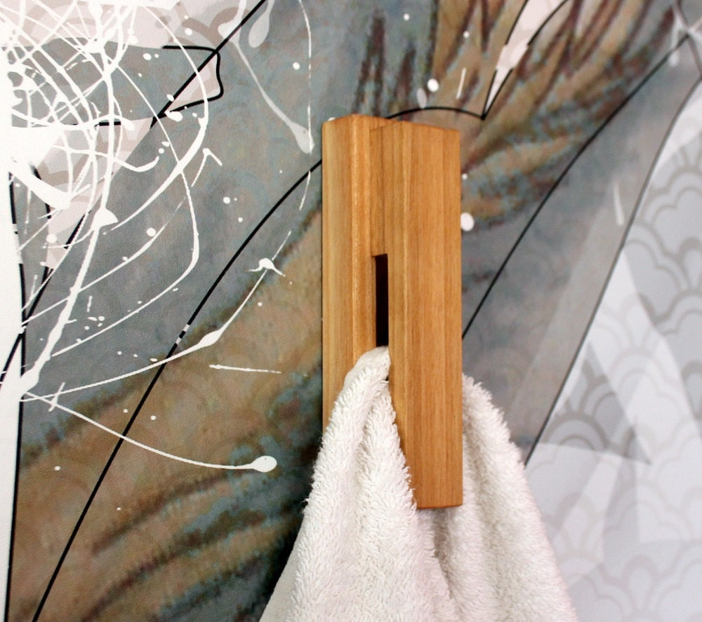 Wood towel bars for bathrooms -  Zoom