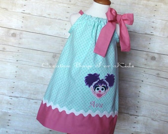 Abby Cadabby Dress/ Personalized Abby Cadabby dress/ Abby Cadabby Outfit (matching bag available)