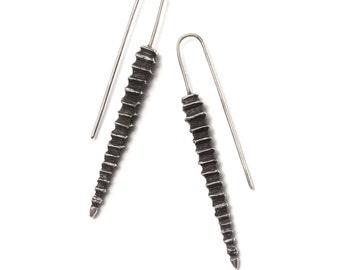 Sea spike hook earrings