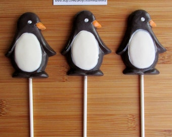 PENGUIN Chocolate Pops (12) - PENGUIN FAVORS/Winter Onderland/Christmas Gift