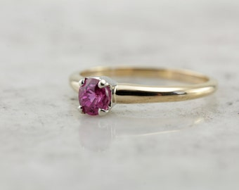 Berry Pink Engagement, Pink Sapphire Solitaire Engagement Ring  DER93N-D