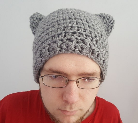 Crochet Hat Beanie Cat Ear Hat Abstract by ...