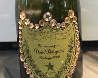 Dom Perignon Champagne Decorated Bottle
