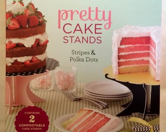 Pretty Cake Stands: Stripes and Polka Dots by Chronicle Books (2014) NIB