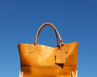 Savannah Tote - Handmade Large leather tote - leather satchel
