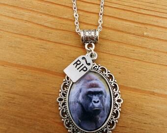 RIP Harambe The Gorilla Memorial Necklace