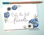 Pregnancy Announcement Card - Only the Best Friend Pregnancy Reveal Card - New Auntie - We Are Having a Baby Card - I'm Prego Card