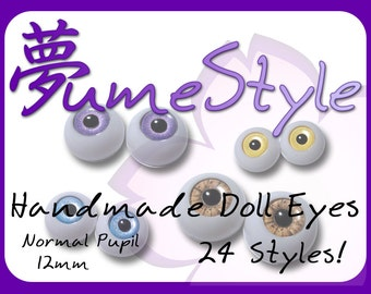 BJD Eyes - 12mm - 24 Styles!