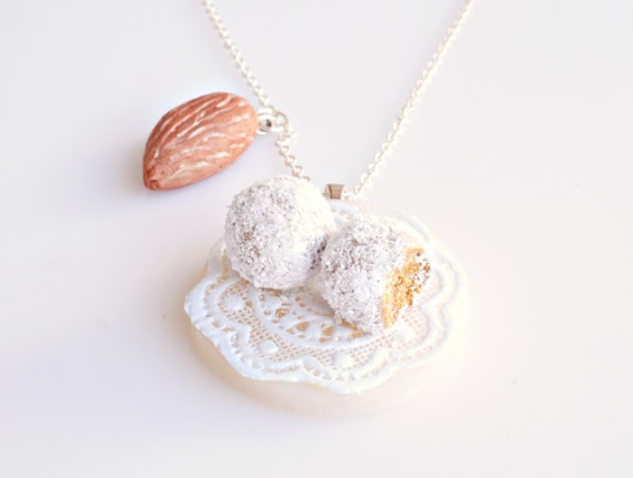Greek Traditional Almond Bites Necklace, Almond Necklace, Almond Jewelry, Mini Bites, Mini Treats, Traditional Food, Food Jewelry