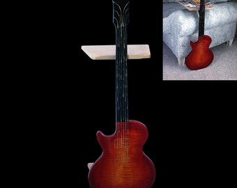 Guitar Perching Table - Cherry Burst Tiger Maple