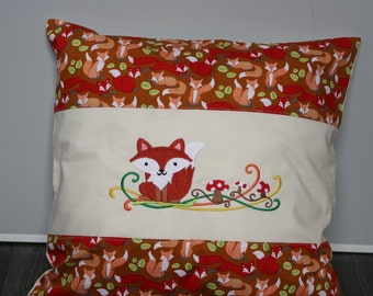 Pillow Fox removable, Kids pillow, Fox pillow