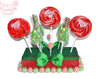 Christmas Tree Lollipop Centerpiece, Christmas Centerpiece, Christmas Candy Centerpiece, Christmas Candy Buffet, Christmas
