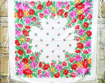 Rustic wedding shawl boho wedding gift for mom wool scarf mothers day gift wool shawl russian shawl head scarf tablecloth piano shawl fringe