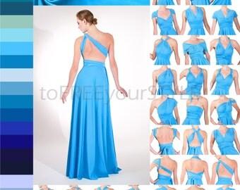 Convertible long dress styles