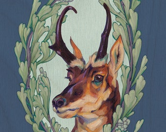 Print or Note Card: Pronghorn with Sagebrush