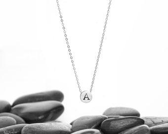 Tiny Initial Sliding Charm Necklace