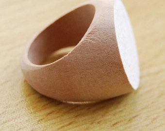 Flat wooden rings etsy for Wooden rings for crafts