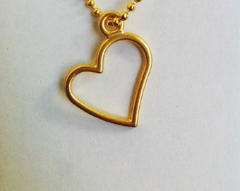 Gold plated necklace with heart pendant