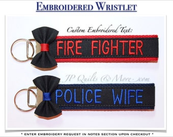 Police or Fire Fighter Wristlet