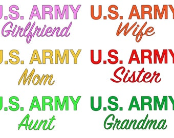 U.S. ARMY Vinyl Decal