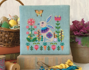 Sweet Spring - printed version - Satsuma Street modern cross stitch pattern