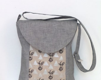 Crossbody Bag / Crossbody Purse / Shoulder Bag / Messenger Bag / Handbag / Purse / Gray