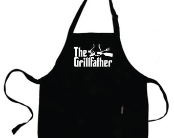 Grilling Father Gift Boyfriend Gift Husband Mens Gift Personalized Mens THE GRILLFATHER Grilling Gifts For Dad Grill Aprons .