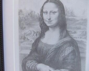 Mona Lisa Drawing Print of La Joconde in the Style of Leonardo da Vinci by Artist Arben