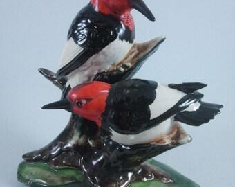 Audubon Stangl Pottery Redheaded Woodpeckers
