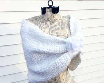 Winter Wedding Shrug - Crochet Bridal Shrug - Custom Bridal Jacket - Winter Wedding Bolero - Crochet Shrugs for Dresses - Bridesmaid Shrug