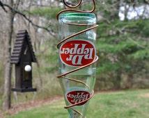 """Vintage 1970s Dr. Pepper Bottle Bird Feeder ~ """"The Soda Fountain"""""""
