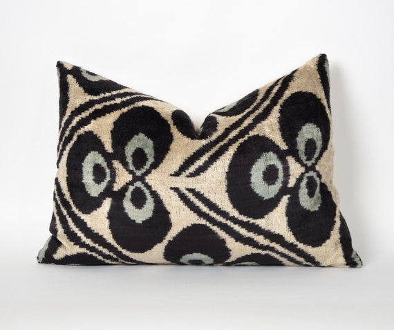 Handmade Ikat Throw Pillows : velvet ikat pillow silk handmade pillows cushion by pillowme