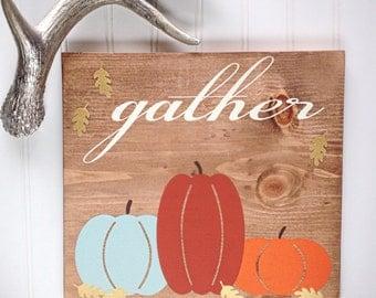 Fall Wood Sign- Rustic Fall Decor- Thanksgiving Decoration- Pumpkin Wood Sign- Fall Decoration- Autumn- Pumpkin Decor- Thanksgiving Sign
