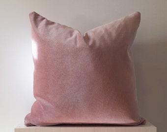 16x16 18x18 20x20 12x24 Pink Velvet Pillow Cover