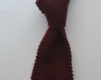 Vintage ROOSTER HEATHERKNIT Burgundy Wool/Mohair Blend Knit Short and Slim