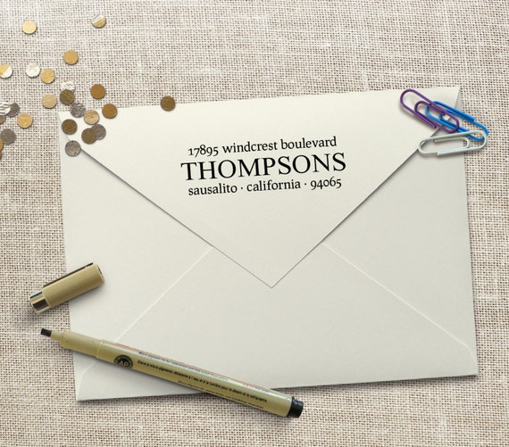 Personalized housewarming gift custom return address stamp - Best return gifts for housewarming ...