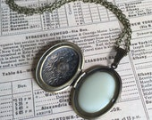 Vintage style locket filled with solid perfume