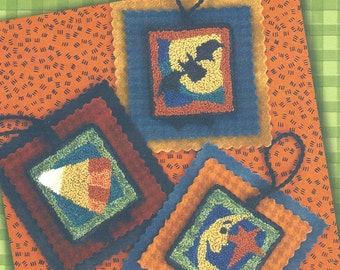 Lizzie Kate - Halloween HangUps I - Pattern for Punchneedle  - Natural Weavers Cloth