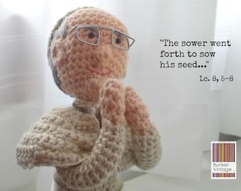 Amigurumi Pope Francis doll - Crochet doll - Crocheted Pope Francis doll - Amigurumi Crochet doll