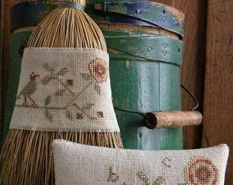 Pattern: Cottage Rose Cross Stitch by Threadwork Primitives