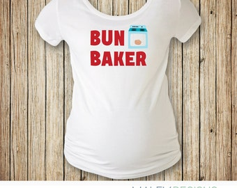 Bun Baker Maternity Shirt, Halloween Maternity Costume, Halloween Pregnancy Shirt