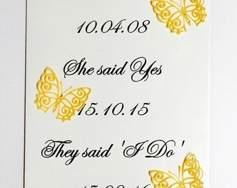 Wedding, our story, date sign, A4, wedding decor, keepsake, couple sign