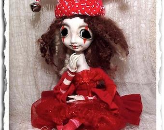 Gothic Clown Art Doll OOAK - Jester - Creepy Cute