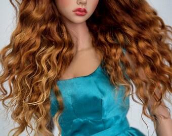 Sweet caramel (natural angora wig for bjd SD, MSD, tiny)
