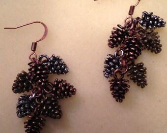 tri color cones dangle earrings