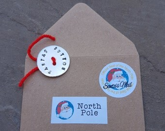 SANTA'S LOST BUTTON. Magical Child Experience. Santa Clause. Special Santa Letter.